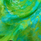 """Аксессуары ручной работы. Ярмарка Мастеров - ручная работа Шелковый платок """"Весна 8"""". Handmade."""