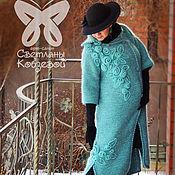"""Одежда ручной работы. Ярмарка Мастеров - ручная работа Пальто """"Французкий шик"""" (мята). Handmade."""