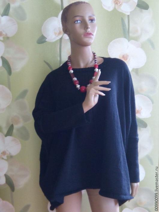 Кофты и свитера ручной работы. Ярмарка Мастеров - ручная работа. Купить Бохо джемпер черный оверсайз. Handmade. Однотонный, бохо