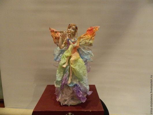 Коллекционные куклы ручной работы. Ярмарка Мастеров - ручная работа. Купить Радужный ангел. Handmade. Кукла ручной работы, Паперклей