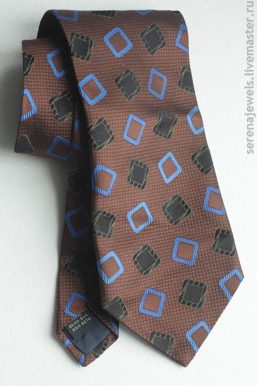Винтажная одежда и аксессуары. Ярмарка Мастеров - ручная работа. Купить Шелковый галстук №9 PELO. Handmade. Коричневый, мужской галстук
