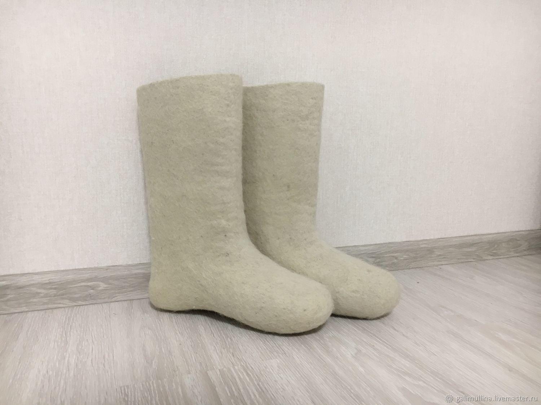 Обувь ручной работы. Ярмарка Мастеров - ручная работа. Купить Женские белые валенки. Handmade. Белый, белые валенки