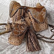 Сумки и аксессуары handmade. Livemaster - original item bags set belt beige. Handmade.
