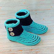 Обувь ручной работы handmade. Livemaster - original item boots: Women`s boots knitted plush for the street and at home. Handmade.