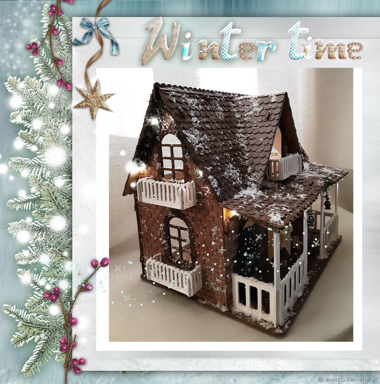 """Кукольный дом """"Новогодний"""" со светящейся гирляндой, Кукольные домики, Москва,  Фото №1"""