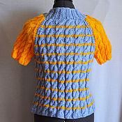 Одежда ручной работы. Ярмарка Мастеров - ручная работа Кофточка на молнии, вязаная. Handmade.