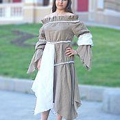 Одежда handmade. Livemaster - original item Long dress linen Dress Summer dress. Handmade.