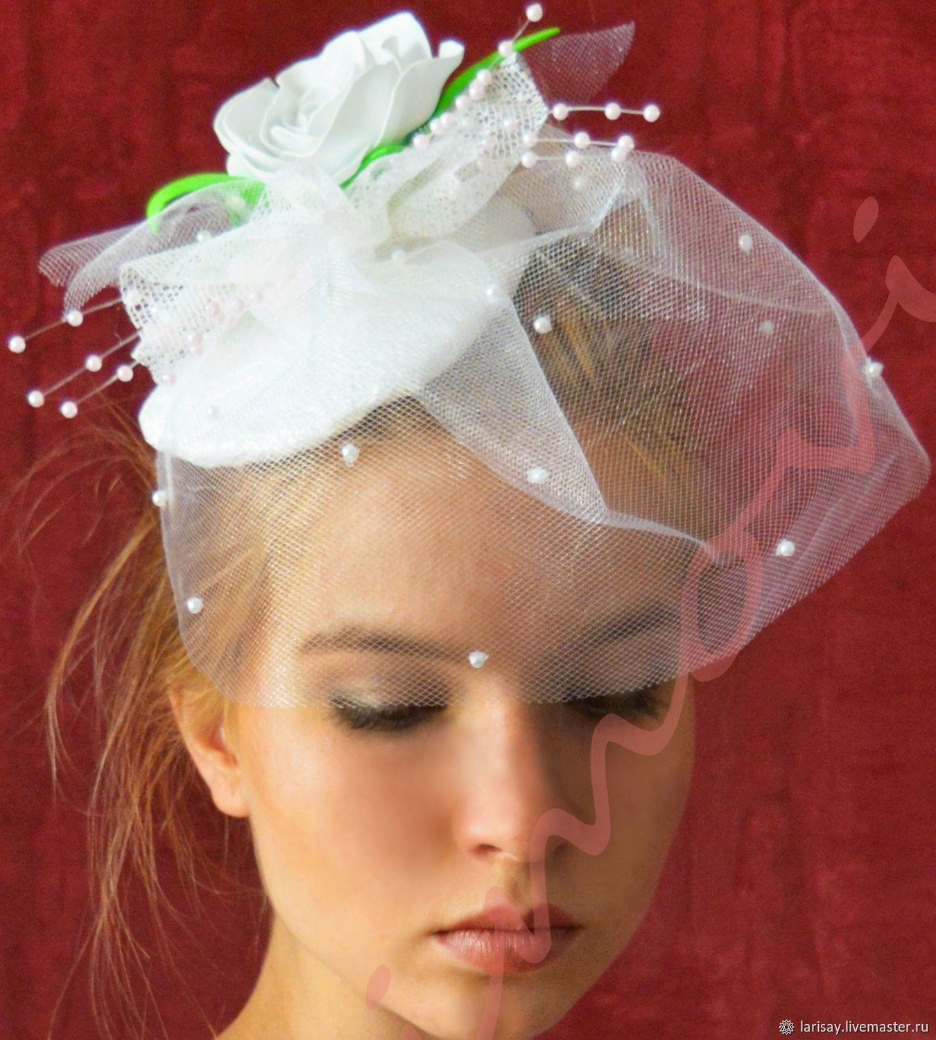 Clothing   Accessories handmade. Livemaster - handmade. Buy Wedding hat  veil with flower Bud ... 4febc18712f