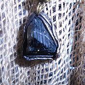 Фен-шуй и эзотерика ручной работы. Ярмарка Мастеров - ручная работа Черный турмалин в коже. Handmade.