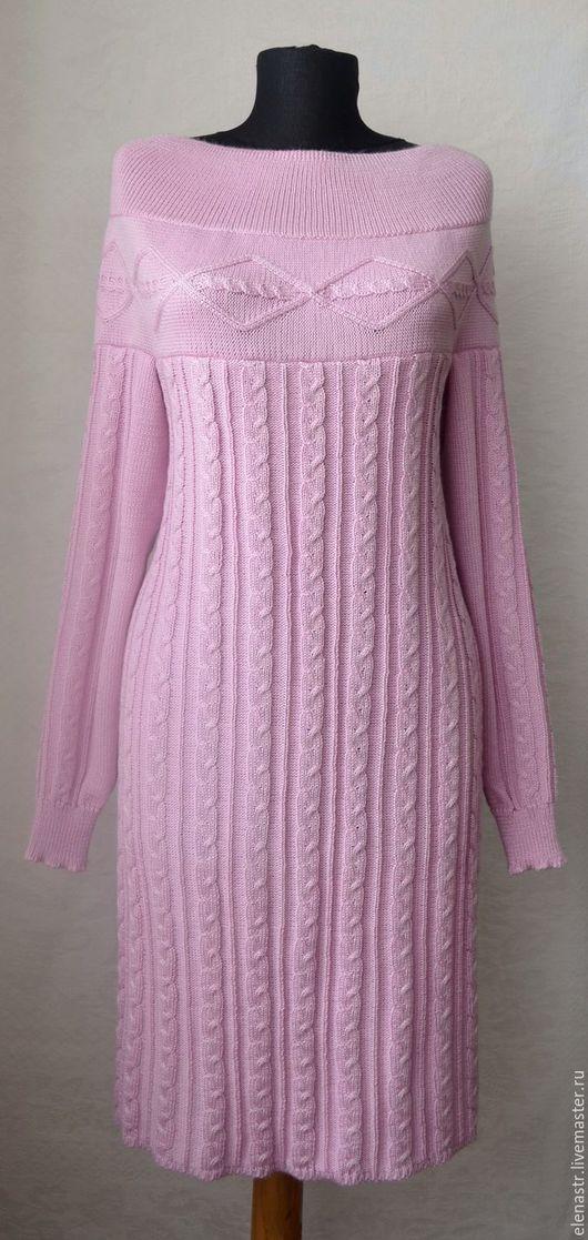 """Платья ручной работы. Ярмарка Мастеров - ручная работа. Купить Платье """"Розовый лёд"""". Handmade. Вязаное платье, весенняя мода"""