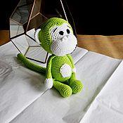 Куклы и игрушки handmade. Livemaster - original item Funny, funny monkey green. Handmade.
