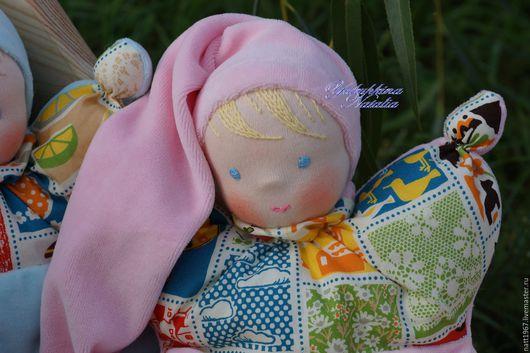 Вальдорфская игрушка ручной работы. Ярмарка Мастеров - ручная работа. Купить Бабочка - вальдорфская куколка. Handmade. Розовый, на рождение малыша