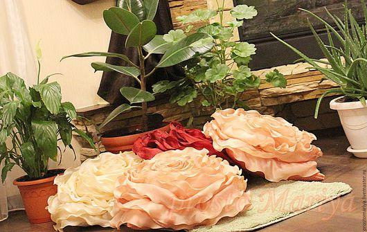 Текстиль, ковры ручной работы. Ярмарка Мастеров - ручная работа. Купить Подушки для Оксаны.............. Handmade. Коралловый, подушка декоративная