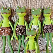 Куклы и игрушки ручной работы. Ярмарка Мастеров - ручная работа Текстильная игрушка Лягушка. Handmade.