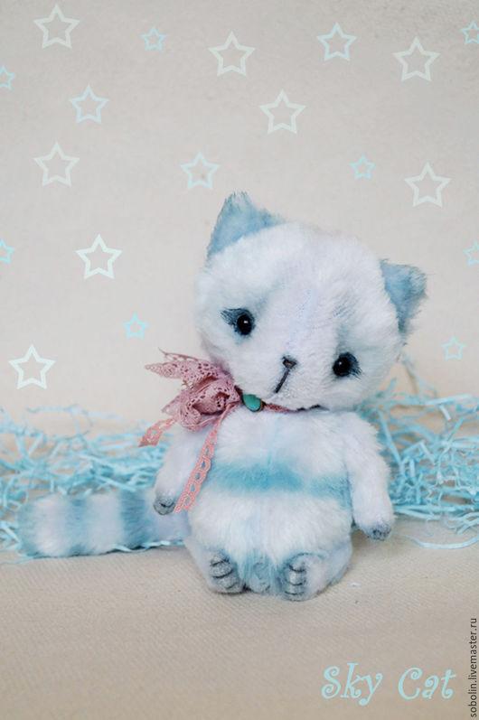 """Игрушки животные, ручной работы. Ярмарка Мастеров - ручная работа. Купить """"Cute friends""""  sky cat - Небо. Handmade. Комбинированный"""