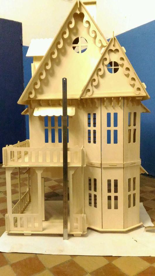 Кукольный дом ручной работы. Ярмарка Мастеров - ручная работа. Купить Кукольный домик для Барби 3D конструктор. Handmade. Белый