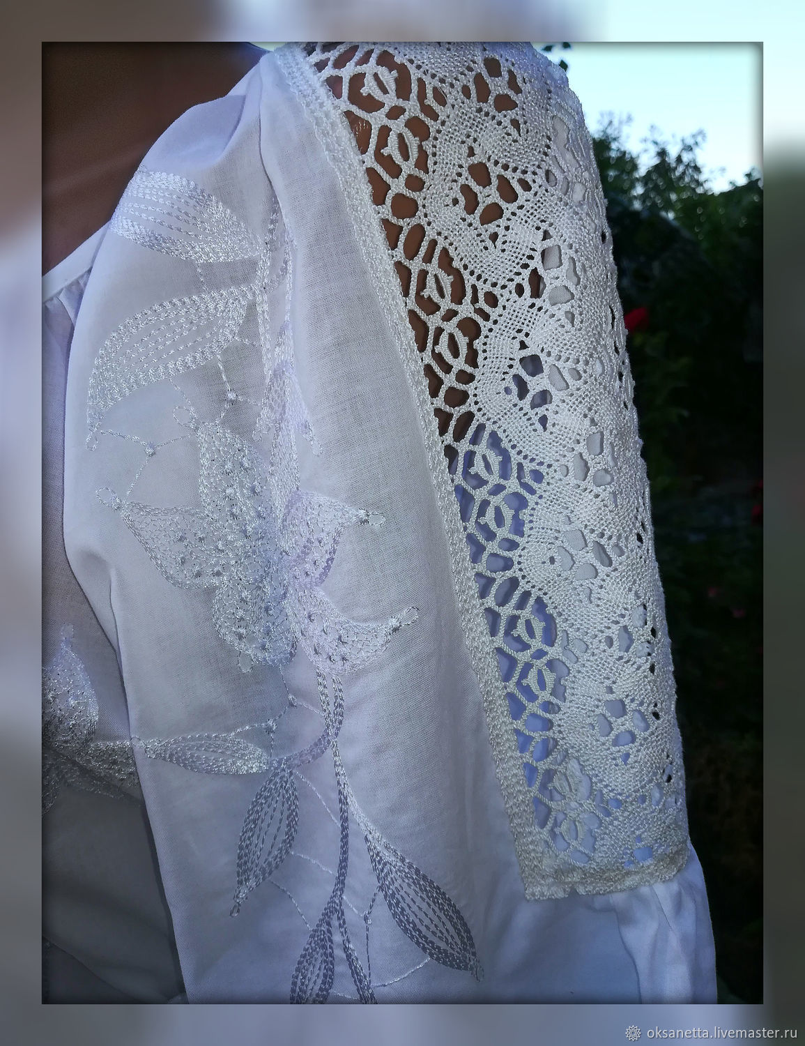 Embroidered shirt from Batista 'Delicate Lily of the valley', Blouses, Zaporozhye,  Фото №1