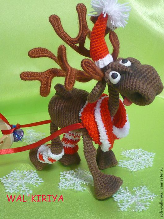 Игрушки животные, ручной работы. Ярмарка Мастеров - ручная работа. Купить Новогодний олень Джереми. Handmade. Коричневый, вязаная игрушка