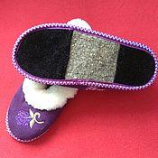 Обувь ручной работы handmade. Livemaster - original item Sheepskin boots, felt sole -36. Handmade.