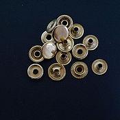 Кнопки ручной работы. Ярмарка Мастеров - ручная работа кнопка кольцевая из латуни. Handmade.