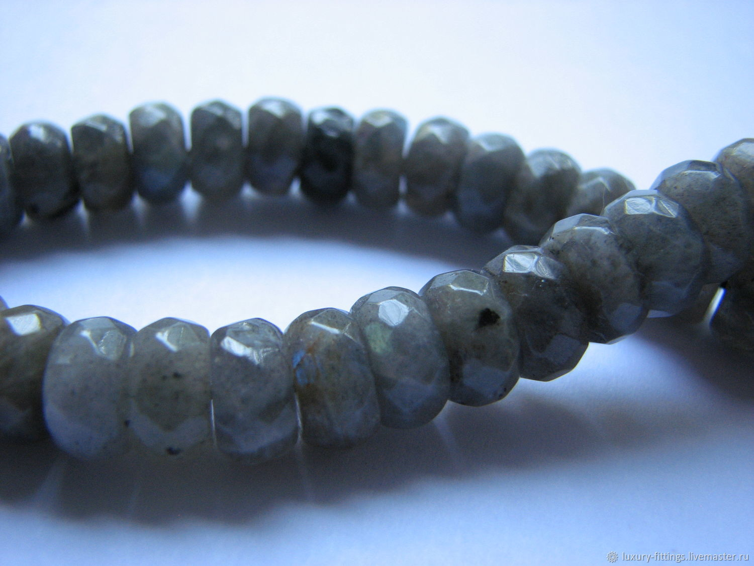 Labrador Rondel faceted 9,5h5,, Beads1, Moscow,  Фото №1