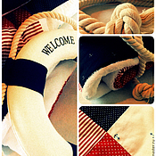 """Для дома и интерьера ручной работы. Ярмарка Мастеров - ручная работа Одеяло плед  """"Пират в горошек"""". Handmade."""