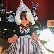 Винтаж handmade. Livemaster - original item Little Dutch doll, Holland. Handmade.