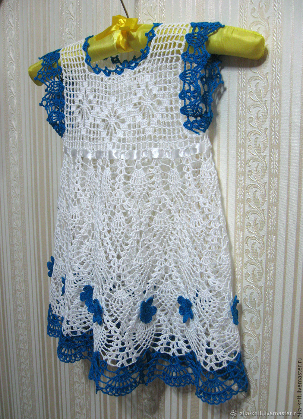Crocheted Girls Dress Baby Dress Knitted Shop Online On