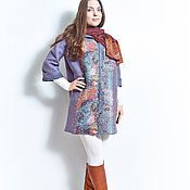 Одежда ручной работы. Ярмарка Мастеров - ручная работа валяное легкое пальто. Handmade.