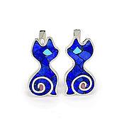 Украшения handmade. Livemaster - original item EARRINGS - Seals. Handmade earrings with lapis lazuli and turquoise.. Handmade.