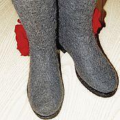 """Обувь ручной работы. Ярмарка Мастеров - ручная работа Валенки на подошве """"Красивые"""". Handmade."""