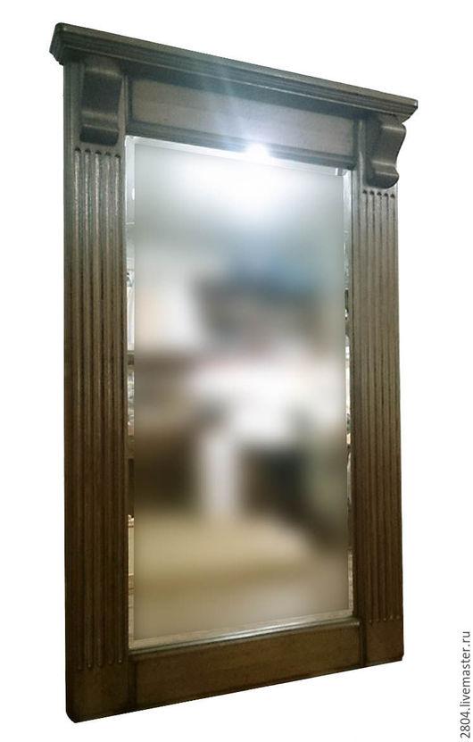 Зеркала ручной работы. Ярмарка Мастеров - ручная работа. Купить Зеркало для прихожей из натурального дерева. Handmade. Коричневый, настенное зеркало