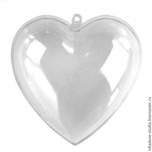 Декупаж и роспись ручной работы. Ярмарка Мастеров - ручная работа. Купить Сердце пластиковое, прозрачное, разборное (h 10 см), Ars Hobby. Handmade.