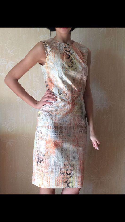 """Платья ручной работы. Ярмарка Мастеров - ручная работа. Купить Платье футляр """"Птицы"""". Handmade. Платье, платье коктейльное"""