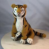 Куклы и игрушки handmade. Livemaster - original item felt toy: Tiger. Handmade.