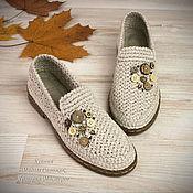 Обувь ручной работы handmade. Livemaster - original item Shoes loafers womens knitted. Handmade.