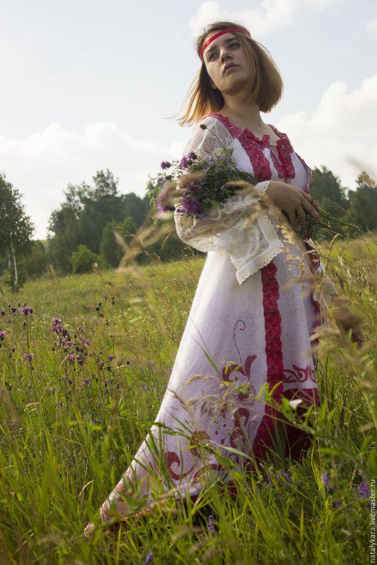Платья ручной работы. Валяное свадебное платье