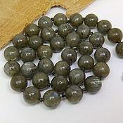 Работы для детей, handmade. Livemaster - original item Labradorite beads Olive green 45 cm. Handmade.
