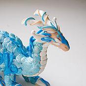 """Куклы и игрушки ручной работы. Ярмарка Мастеров - ручная работа Дракон пластика """"Blue dragon 1_12"""". Handmade."""