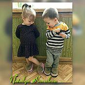 Тапочки ручной работы. Ярмарка Мастеров - ручная работа Детские тапочки из трикотажной пряжи. Handmade.