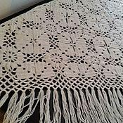 Одежда ручной работы. Ярмарка Мастеров - ручная работа Шаль из натуральной овечьей шерсти. Handmade.