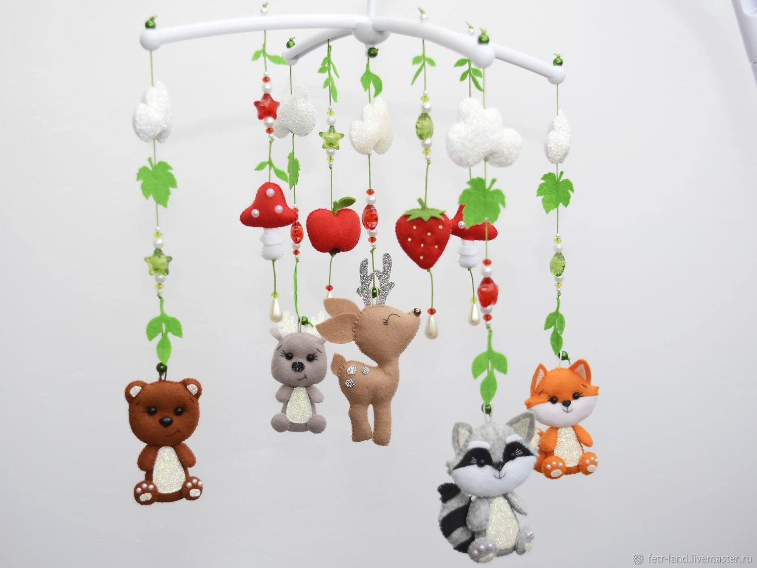 Mobile felt on the cot 'Forest animals', Toys for cribs, Belgorod,  Фото №1