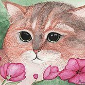Картины и панно handmade. Livemaster - original item Kitten, you`re a fluffy little doll. Handmade.