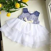 Работы для детей, ручной работы. Ярмарка Мастеров - ручная работа Аметист нарядное платье для девочки. Handmade.