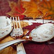 Комплекты аксессуаров ручной работы. Ярмарка Мастеров - ручная работа Детский именной столовый набор из трех предметов. Handmade.