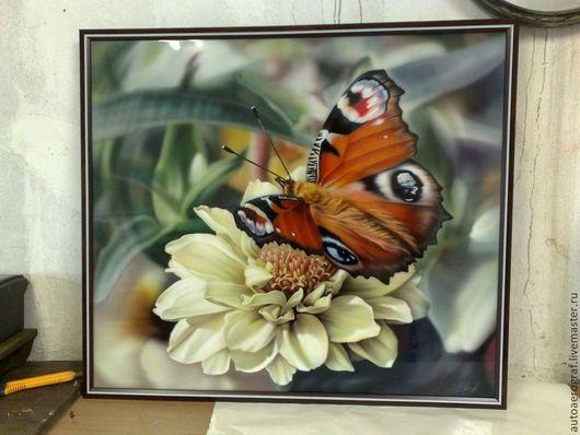 Картины цветов ручной работы. Ярмарка Мастеров - ручная работа. Купить бабочка и цветок. Handmade. Разноцветный, композиция для интерьера, картина
