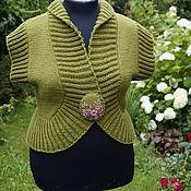 Одежда ручной работы. Ярмарка Мастеров - ручная работа Жилет женский  вязаный большого размера. Handmade.