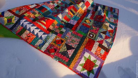 Текстиль, ковры ручной работы. Ярмарка Мастеров - ручная работа. Купить Лоскутное одеяло в русском стиле №2. Handmade. печворк