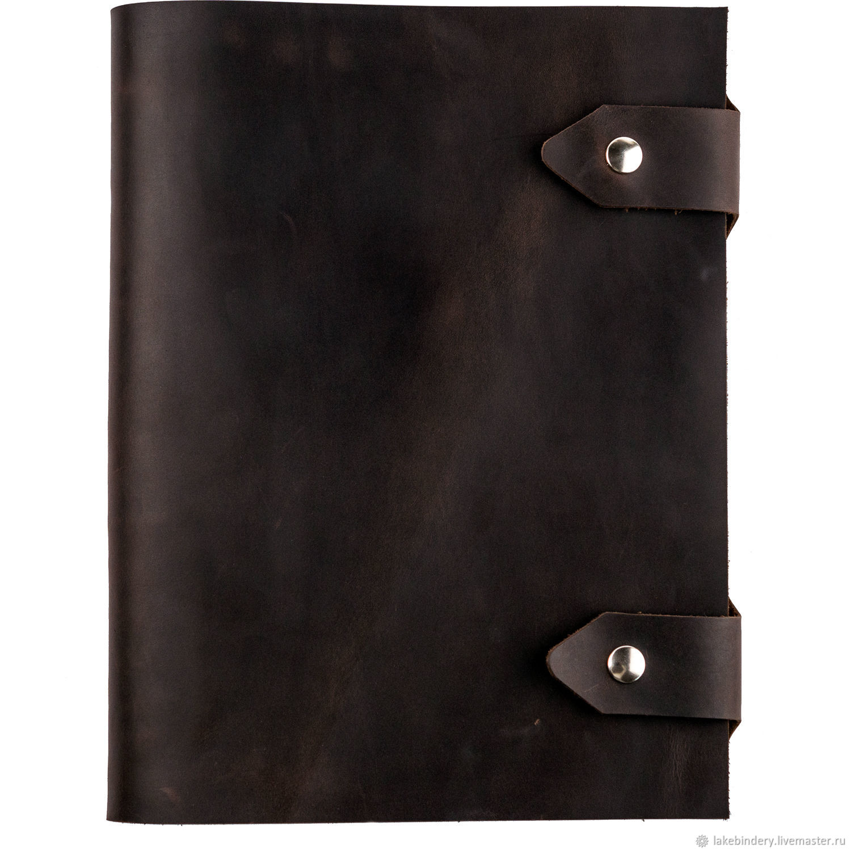 Большой кожаный блокнот А4 выполнен из натуральной кожи Crazy Horse, Блокноты, Москва,  Фото №1