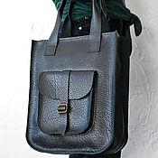 Сумки и аксессуары handmade. Livemaster - original item Leather handbag black SORA. Handmade.